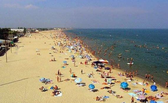 Пляж в поселке Затока Одесской области