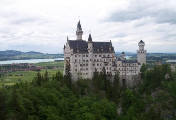 Замок Нойшванштайн в Баварии, Германия