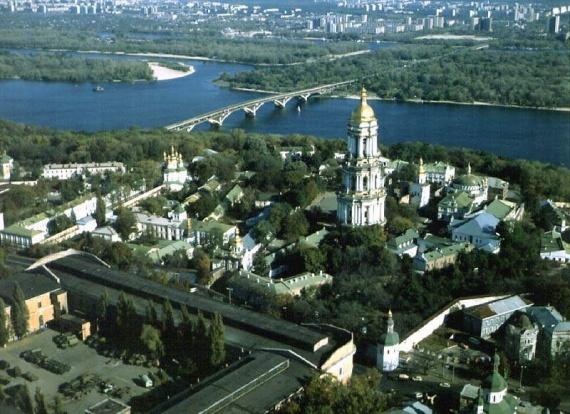 Вид на Киев сверху