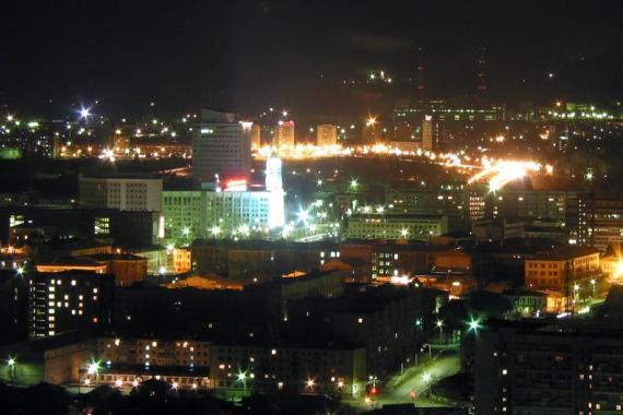 Красноярск ночью