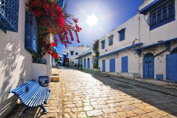 Сиди-бу-Саид - красивейший город в Тунисе