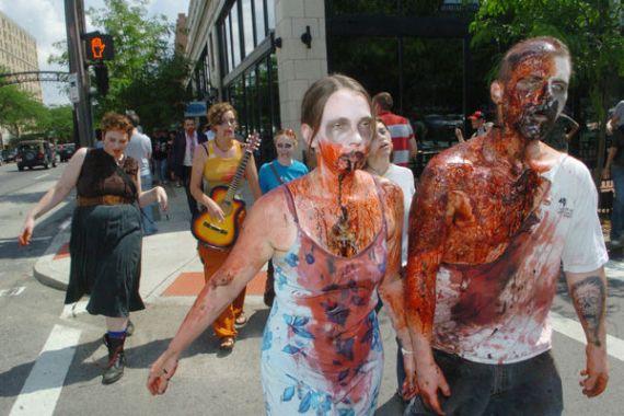 Марш Зомби в Бостоне