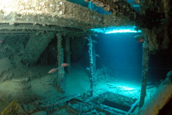 Обломки затонувшего корабля Thistlegorm