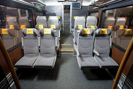 Внутри поезда Сапсан