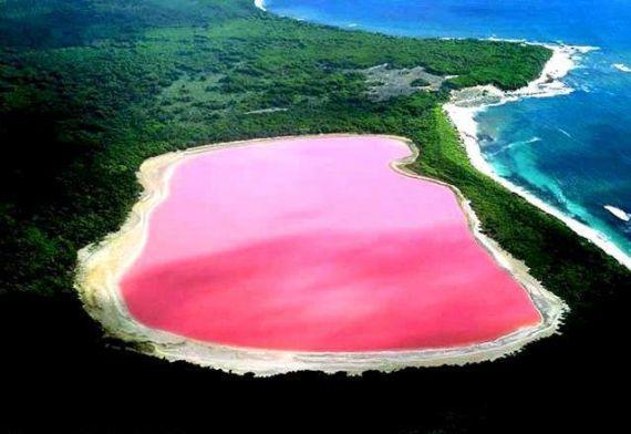 Австралия: розовое озеро Хиллер
