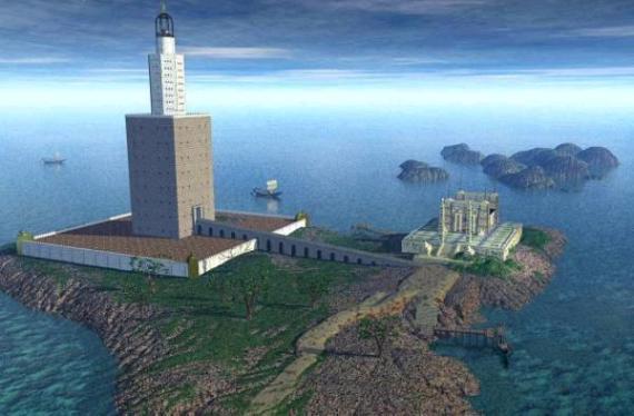 Фаросский маяк, воссозданное изображение