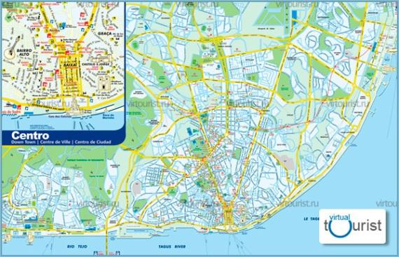 Карта Лиссабона