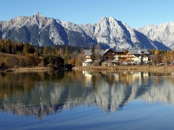 Озеро в предгорье Альп