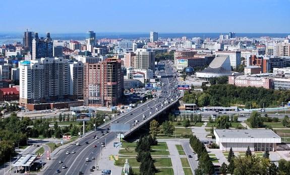 Новосибирск, вид на город