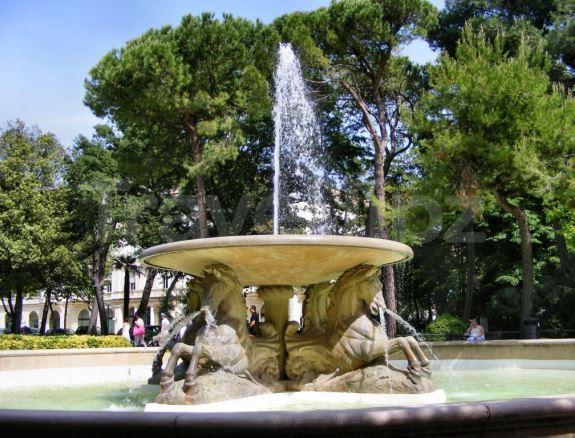 Фонтан в парке Федерико Феллини