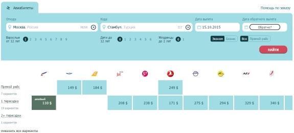 Подбор дешевых билетов в Турцию на zemexpert.com