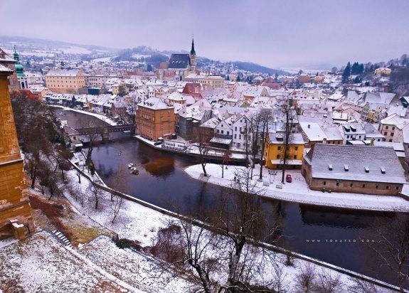 Зима в Чехии