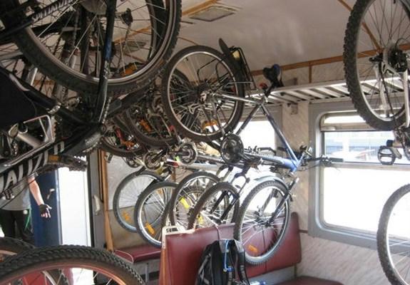 Перевозка велосипедов в электричке