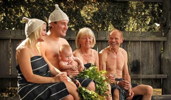 Посещение бани для финнов - семейная традиция