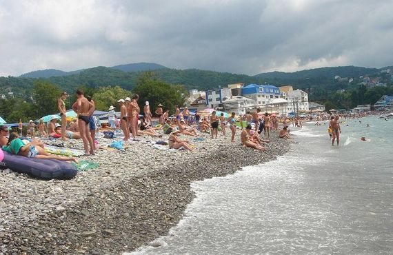 Лазаревское, пляж