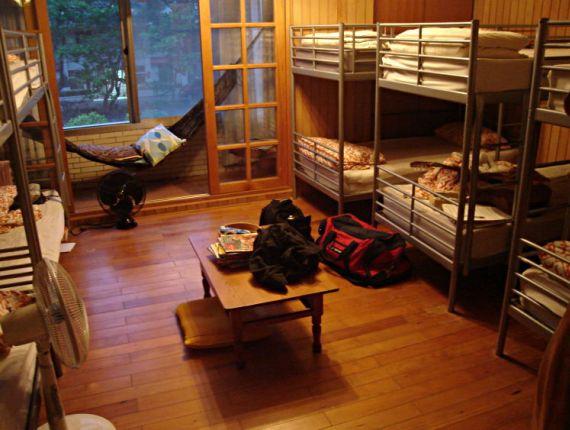 Так выглядит комната в недорогом хостеле