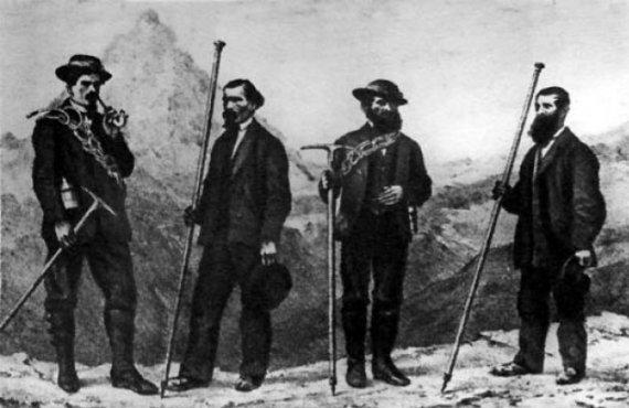 Так выглядели первые альпинисты