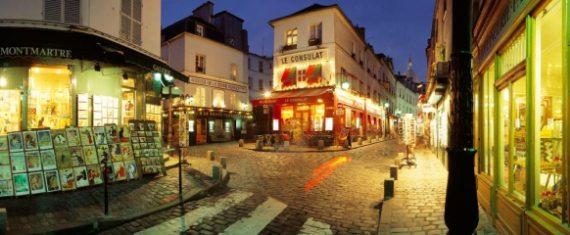 Париж, вечерний Монмартр