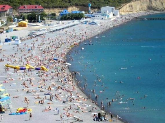 В Геленджике мелкогалечные пляжи