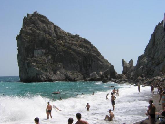 Чистейшее море Симеиза, пляж у скалы Дива