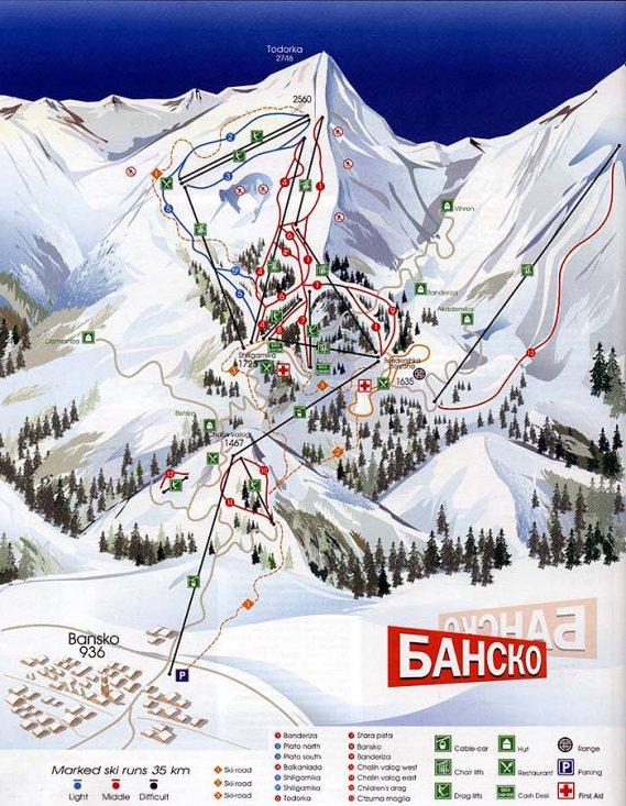 Болгария: трассы горнолыжного курорта Банско
