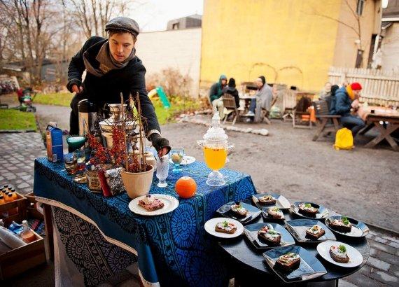 Однодневное кафе в Финляндии на ресторанный день