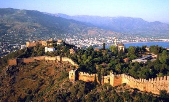 Алания, вид на крепость