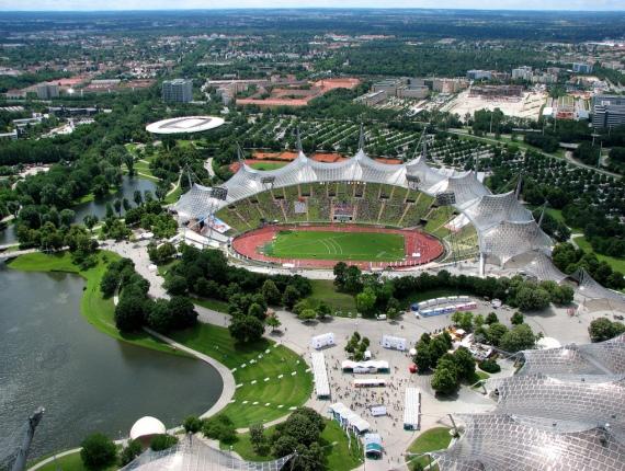 Мюнхен, вид на Олимпийский парк