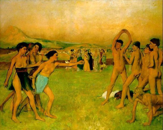 Эдгар Дега. Юные спартанки бросают вызов спартанским юношам