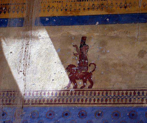 Древняя настенная роспись в крепости Эребуни