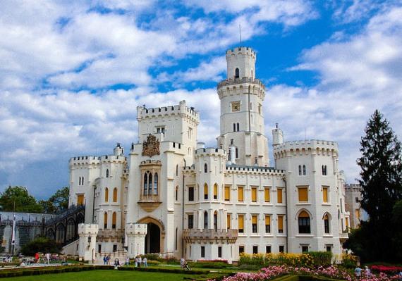 Замок Глубока-над-Влтавой в Чехии, памятник ЮНЕСКО