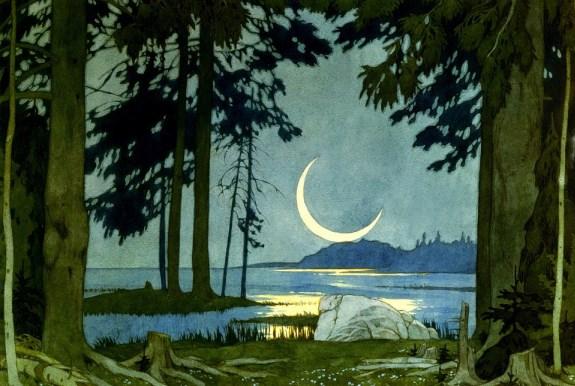Садко, ночь на берегу Ильменя