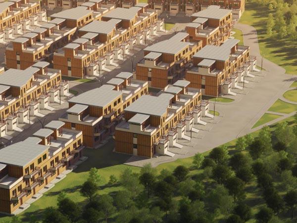 Коттеджный поселок таунхаусов