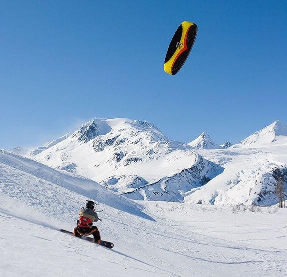 Снежный кайтсерфинг
