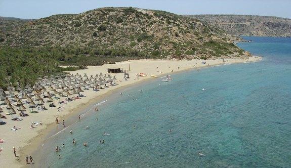 Пейзаж пляжа в Греции