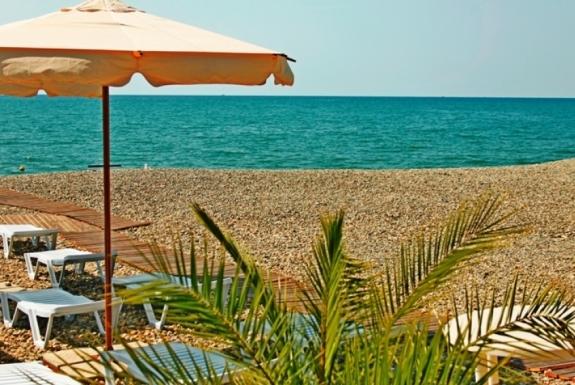 Пляж пансионата Фрегат