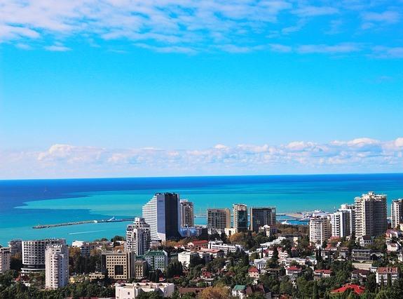 Сочи, вид на город и море