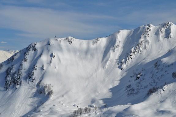 Крутые склоны горного Сочи