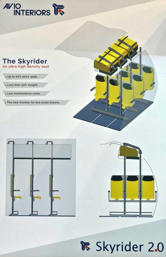 Прототип стоячих мест для самолетов
