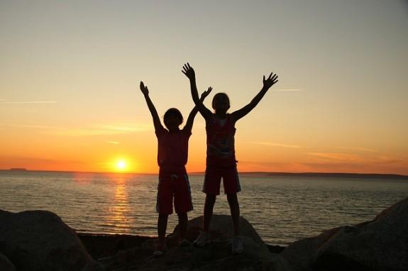 Дети счастливы в отпуске