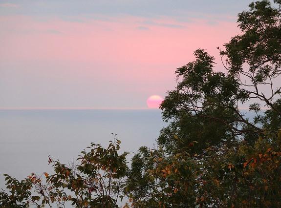 Сочи, закат над морем