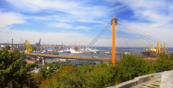 Вид на Тёщин мост