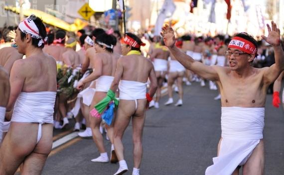 Праздник обнаженных в Японии
