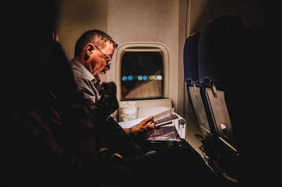 В самолете можно поработать