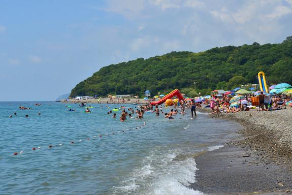 Центральный пляж Криницы