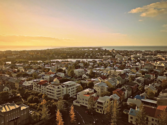 Исландия, вид на Рейкьявик