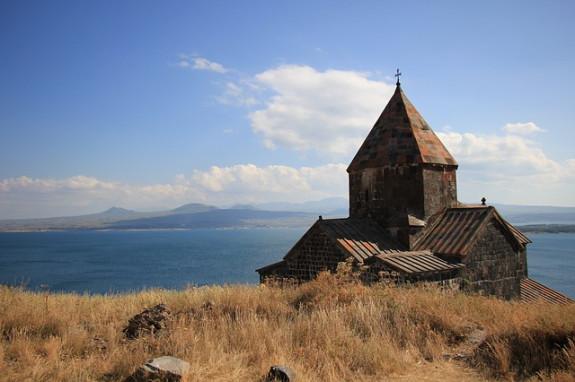 Монастырь у озера Севан