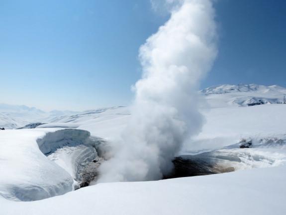 Термальные источники активны даже зимой