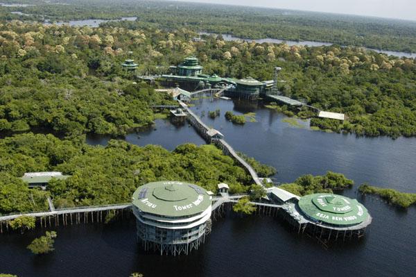 Ariau Amazon Towers Hotel, Бразилия: отель на дереве