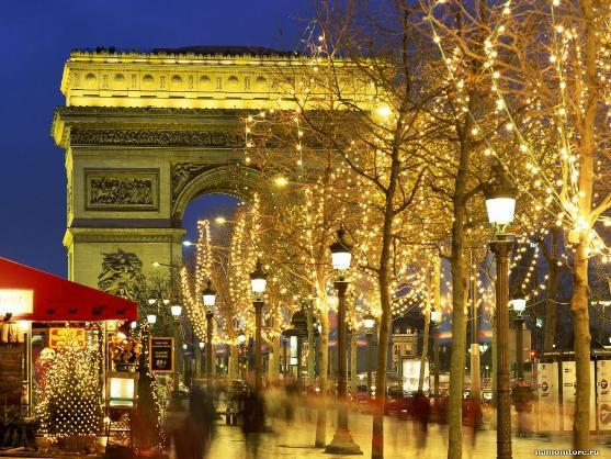 Рождество на Елисейских полях, Париж